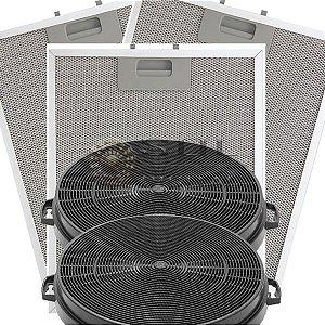 Kit Filtros para Coifa Electrolux 90CX - Carvão e Metálicos