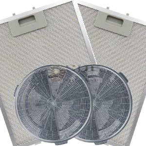 Kit Filtros para Coifa Electrolux 60CT - Carvão e Metálicos