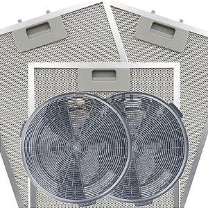 Kit Filtros para Coifa Electrolux 90CT - Carvão e Metálicos