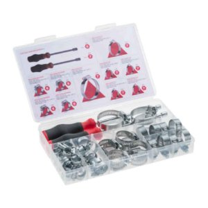 Kit com 48 Abraçadeiras Rosca Sem Fim e 2 Chaves canhão
