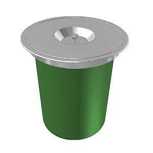 Lixeira de Embutir Franke Redonda com Balde Removível 12 litros