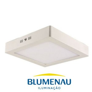Painel de LED de Sobrepor 18W 3000K  22,5X22,5 Blumenau