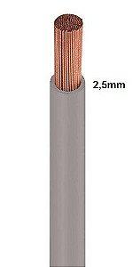 Cabo Flexível 2,5mm Cinza 750V RCM