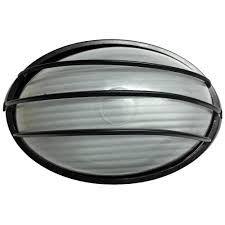 Arandela Tartaruga de Alumínio Com Grade Preto