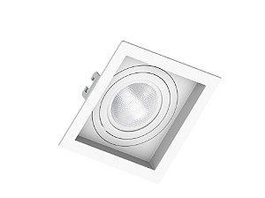Spot de Embutir Par20 Quadrado Recuado Branco Save Energy