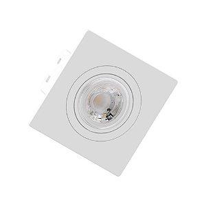Spot de Embutir MR16 Quadrado Plano Branco Save Energy