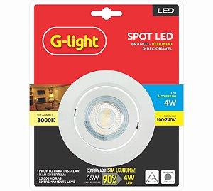 Spot LED de Embutir Redondo 4W 3000K G-Light