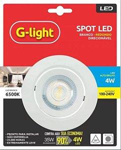 Spot LED de Embutir Redondo 4W 6500K G-Light