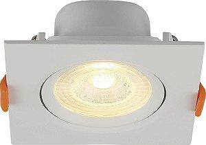 Spot LED de Embutir Quadrado 6W 3000K Blumenau
