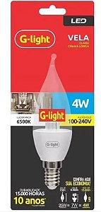 Lâmpada LED VELA E14 4W Chama Longa 6500K