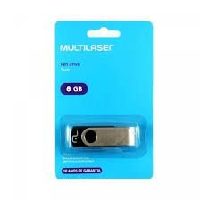 Pendrive Multilaser Twist PD587 8GB preto/prateado