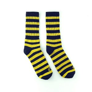 Meia Cosmic Stripe Yellow