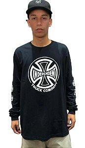 Camiseta Independent Truck Co Manga Longa Preta Ref:60400200