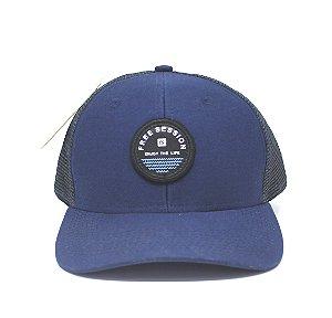 Boné Trucker Free Session Aba Curva Azul