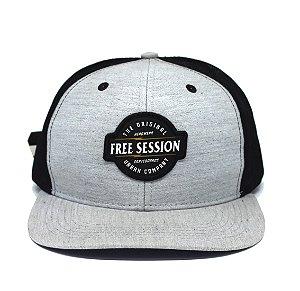 Boné Trucker Snapback Free Session Cinza