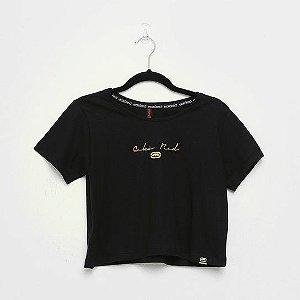 Camiseta Fem Ecko Cropped Preta