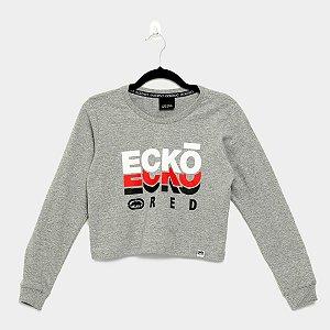 Camiseta fem Ecko Mg Longa Mescla