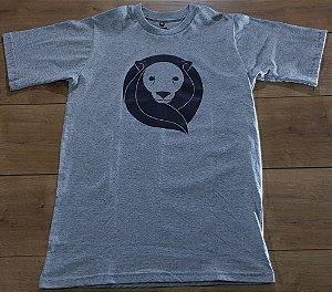 Camiseta Zion Cinza Logo Preto