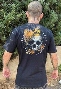 camiseta Surfavel Caveira Fire