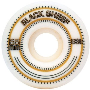 Roda De Skate Importada Roda 55MM 83B Branco/Dourado