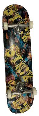 Skate Montado Stick Estampa Pedras