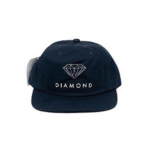 Boné Diamond Aba Reta Futura Sign Uncost Azul - Snapback