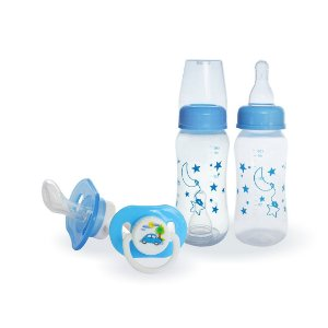 KIT 12 Mamadeiras 150 Ml + 25 chupetas Star Tropical Orto