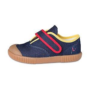 Tênis Cano Baixo Bento Jeans Oceano Colorido + Craft |