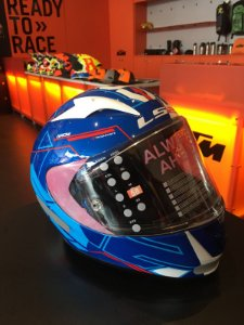 Capacete LS2 FF3 23 Arrow R Techno WHT Blue RE