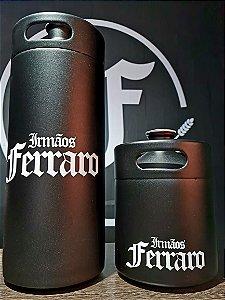 Growler Aço Inoxidável Preto - 2 litros