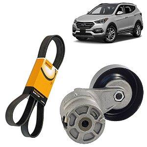Kit Tensor e Correia Alternador Hyundai Santa Fe 2.7 06 a 11