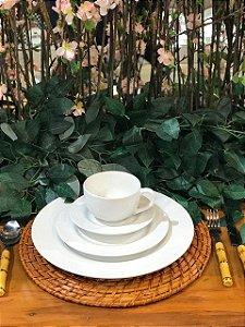 Aparelho de Jantar e Chá 20 peças - Plissan Relevo - Alleanza Cerâmica