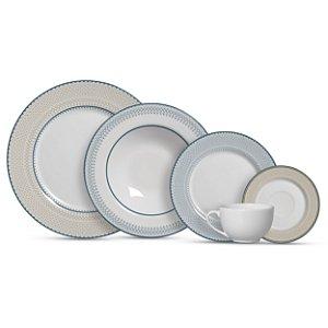 Aparelho de Jantar e Chá 20 peças - Renda - Alleanza Cerâmica