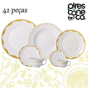 Aparelho de Jantar, Chá e Café 42 peças - Brasilis - Porcelana Schmidt
