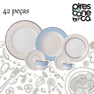 Aparelho de Jantar, Chá e Café 42 peças - Pantanal - Porcelana Schmidt