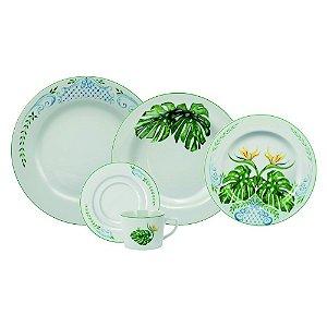 Aparelho de Jantar e Chá 20 peças - Tropical - Porcelana Schmidt