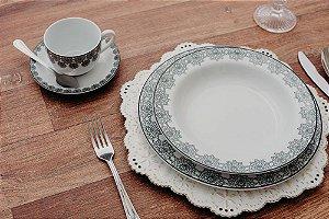 Aparelho de Jantar e Chá 20 peças - Taís - Porcelana Schmidt