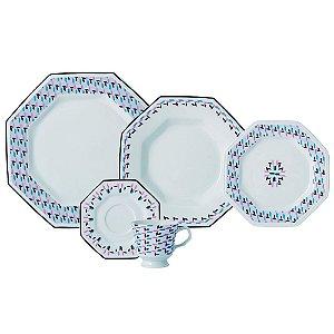 Aparelho de Jantar e Chá 20 peças - Mantiqueira - Porcelana Schmidt