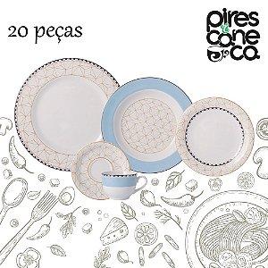 Aparelho de Jantar e Chá 20 peças - Pantanal - Porcelana Schmidt