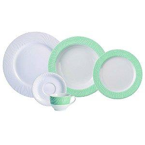Aparelho de Jantar e Chá 30 peças - Green OAK - Porcelana Schmidt