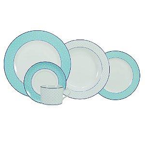Aparelho de Jantar e Chá 30 peças - Maitê - Porcelana Schmidt
