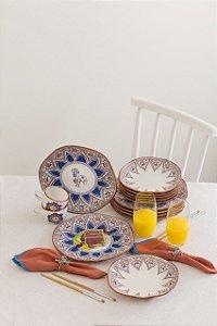 Aparelho de Jantar e Chá 30 peças - Ryo Barcelos - Oxford Porcelanas