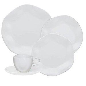 Aparelho de Jantar e Chá 30 peças - Ryo White - Oxford Porcelanas