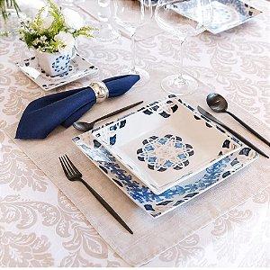 Aparelho de Jantar e Chá 30 peças - Quartier Babet - Oxford Porcelanas