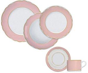Aparelho de Jantar e Chá 20 peças - Royal Rosé - Germer Porcelanas