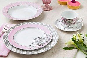 Aparelho de Jantar, Chá e Café 42 peças - Paris - Germer Porcelanas