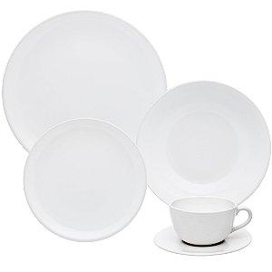 Aparelho de Jantar e Chá 30 peças - Unni White - Oxford Porcelanas