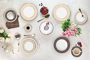 Aparelho de Jantar e Chá 20 peças - Vanilla - Germer Porcelanas