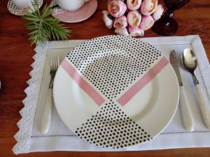 Aparelho de Jantar e Chá 20 peças - Geométrica 5 - Alleanza Cerâmica