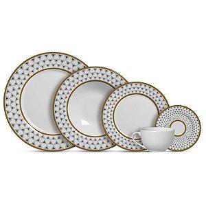 Aparelho de Jantar e Chá 20 peças - Luxor - Alleanza Cerâmica